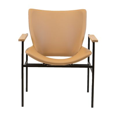 Shell Square Lounge with Arms full leather 0